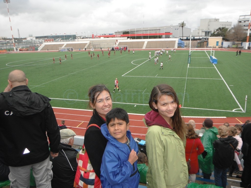 Nancy, Summer and Luie at Rugby Match in Gibraltar