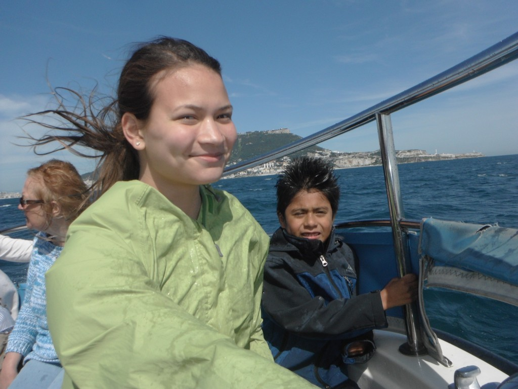 Summer and Luie on dolphin boat