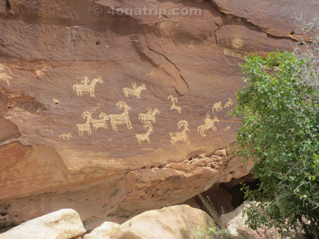 Arches National Park petroglyphs